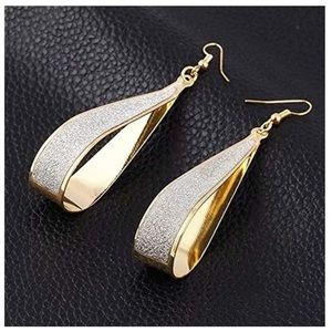 Gold Crystal Dangle Earrings